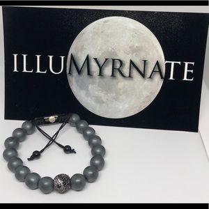 Natural Yinyang Hematite Bracelet